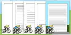 Tour de France Themed Page Borders