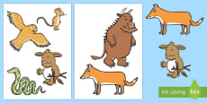 Stick Puppets to Support Teaching on The Gruffalo's Child
