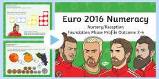 Euro 2016 Numeracy Nursery Reception Foundation Phase Profile Outcome 2 to 4 PowerPoint