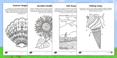 Summer Mindfulness Focus Activity Sheets