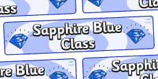 Sapphire Blue Themed Classroom Display Banner