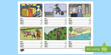 Who, What, Where, When Sentence Building Activity Sheet Arabic/English