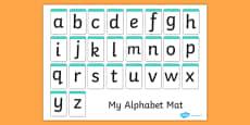 A-Z Alphabet Mat (letters only)