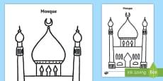 Mosque Template Activity Sheet
