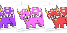Days of the Week on Triceratops