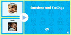 Emotions and Feelings Photo Display PowerPoint