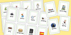 Two Syllable SP Flash Cards