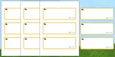 Beetle Themed Editable Drawer-Peg-Name Labels (Blank)