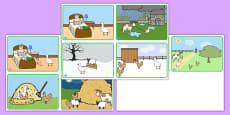 Farmer and Duck Story Sequencing Cards