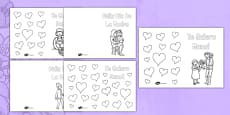 Spanish Mother's Day Colouring Card Template