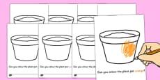 Colouring Plant Pots