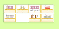 Number Bonds to 10 Stories Challenge Cards Urdu