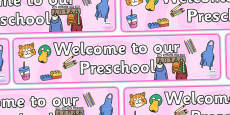 Preschool Display Banner