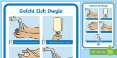 * NEW * Poster Golchi Dwylo