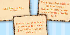 Amazing Bronze Age Display Fact Cards