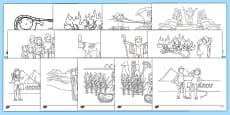 Life of Moses Story Colouring Sheets