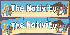 Nativity Display Banner