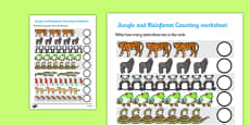 My Counting Activity Sheet (Jungle & Rainforest)