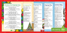 Christmas Themed Playdough Play Songs and Rhymes Resource Pack