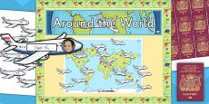 Around the World Reward Display Pack