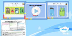 PlanIt - D&T UKS2 - Felt Phone Cases Lesson 3: Making a Template Lesson Pack