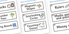 Space Themed Editable Maths Area Resource Labels