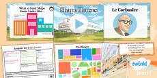 Art: European Art: Shape Houses LKS2 Lesson Pack 3
