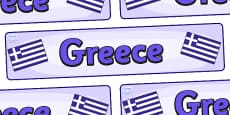 Greece Display Banner