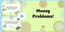 Australia - Money Problems Task Setter PowerPoint