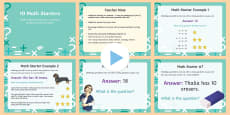 Open Ended Math Starter Questions for Grades 1-5 PowerPoint USA