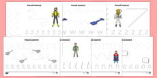 Action Toy Pencil Control Sheets