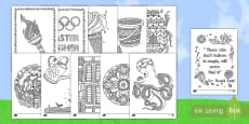 * NEW * Summer Vacation Resource Coloring Activity Pack