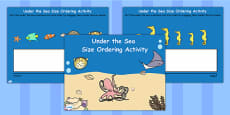 Under the Sea Size Ordering Flipchart