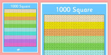 1000 Number Square