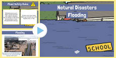 Natural Disasters Flooding Information PowerPoint