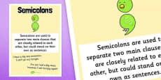 Semicolon Punctuation Poster