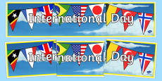 International Day Display Banner