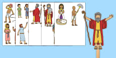 Life of Moses Stick Puppets