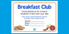 Elderly Care Hydration and Nutrition Week Breakfast Club Poster