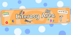Literacy Area Display Banner