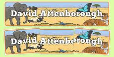 David Attenborough Display Banner