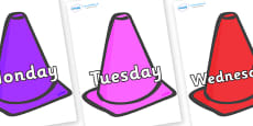 Days of the Week on Cones