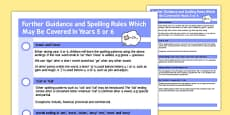 Parent Guidance for Spelling in Year 5-6