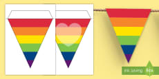 Pride Rainbow Display Bunting