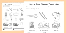 NZ Back to School Year 1 Classroom Treasure Hunt Activity
