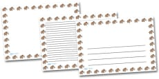 Wooly Mammoth Landscape Page Borders