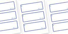 New York Themed Editable Drawer-Peg-Name Labels (Blank)