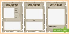 Blank Wanted Posters