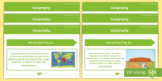 Year 4 Australian HASS Geography Content Descriptor Statements Display Pack