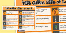 The Great Fire of London Facts Poster